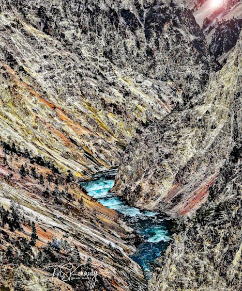 Deep Gorge River Art | Cutlass Bay Productions, LLC