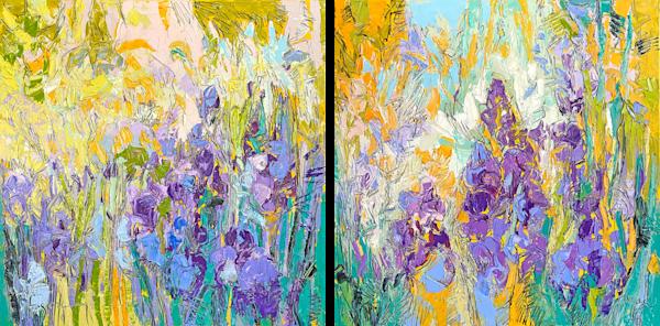 Beautiful Iris Canvas Print, Art by Dorothy Fagan