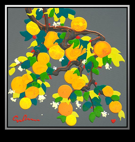 "Simon Bull Available Original Painting - ""Tangerine Dreams"""