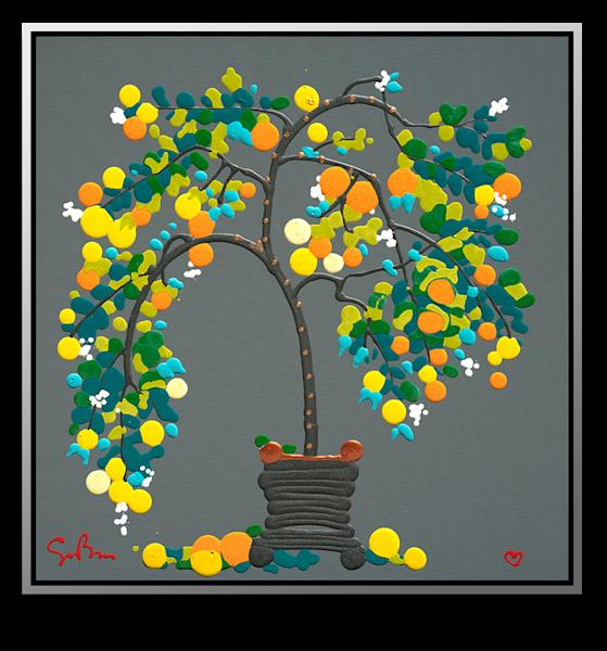 "Simon Bull Available Original Painting - ""Lemon Drops"""