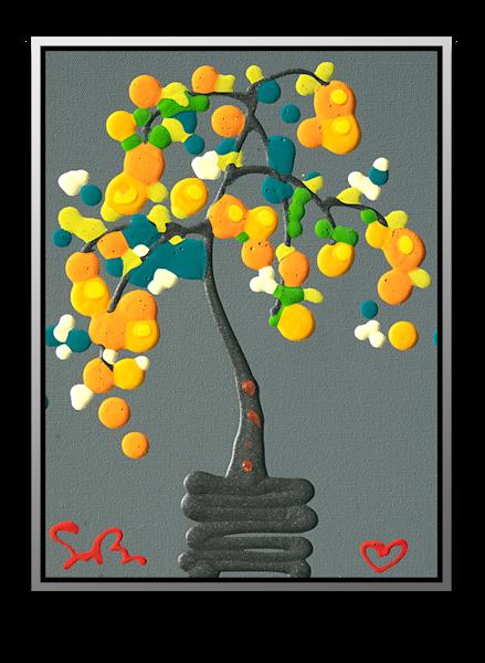 "Simon Bull Available Original Painting - ""Tangerine"""