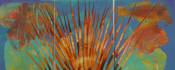 Unknown (Blue Frond Triptych) Art | East End Arts
