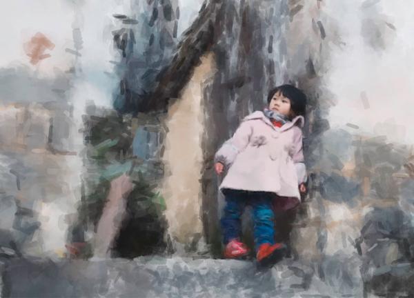 Chinese Kid  Art   Windhorse