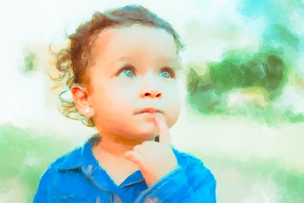 Kid Thinking Art   Windhorse