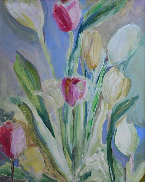 Bouquet Of Tulips Art   All Together Art, Inc Jane Runyeon Works of Art