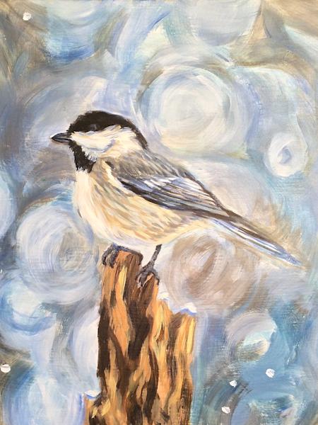 Chickadee Alaska art print