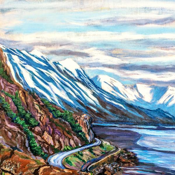 Early Snow on Turnagain Arm Alaska art print