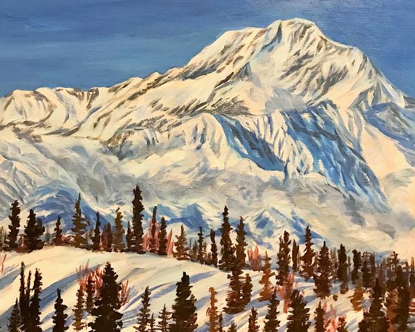 The Great One   Winter Art | Amanda Faith Alaska Paintings / Estuary Arts, LLC