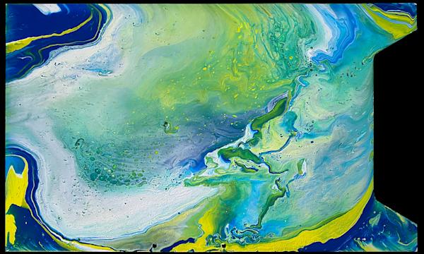 Skewed Perception fluid acrylic painting