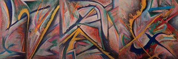 """Va Xinated Triptych"" Art | Daniel Kanow Fine Art"