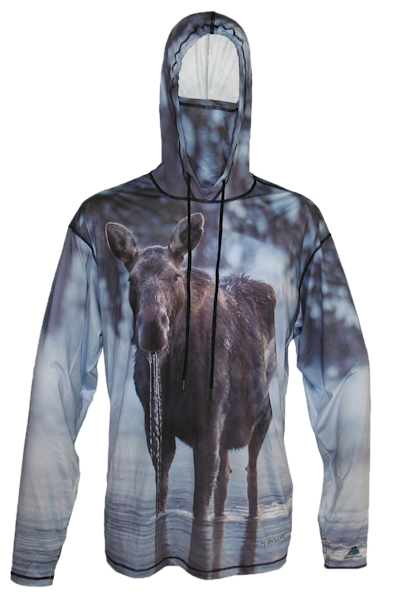 Moose Drool Sun Protective Wildlife Graphic Hoodie   Last Chance Gallery