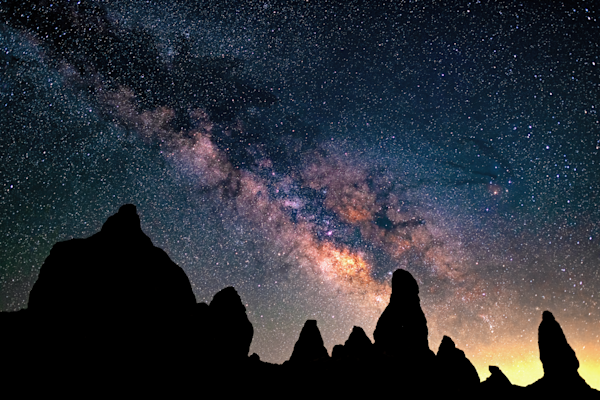 Print Art Trona Pinnacles California Milky Way Galaxy
