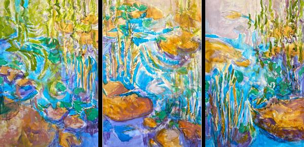 Sparkling, Immersion, Tribute Original Oil Painting Art | Dorothy Fagan Joy's Garden