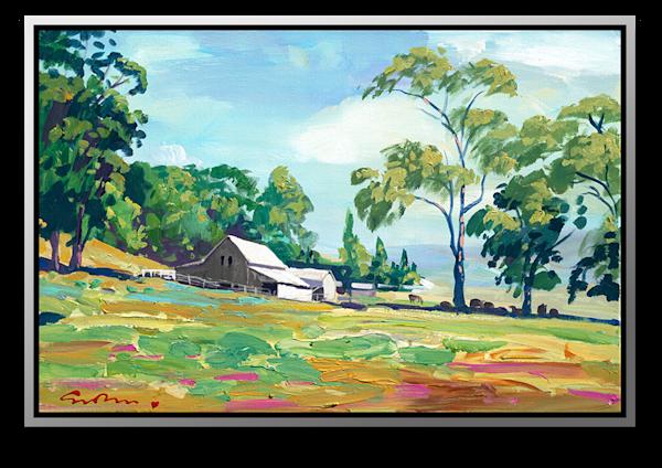 """Simon Bull Available Original Painting - """"Stewart Ranch, Napa"""""""