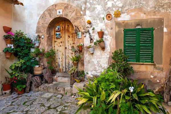 Art Print Palma Mallorca Spain Balearic Courtyard