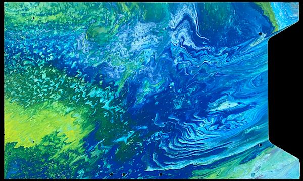 Atomic Ripple fluid acrylic painting