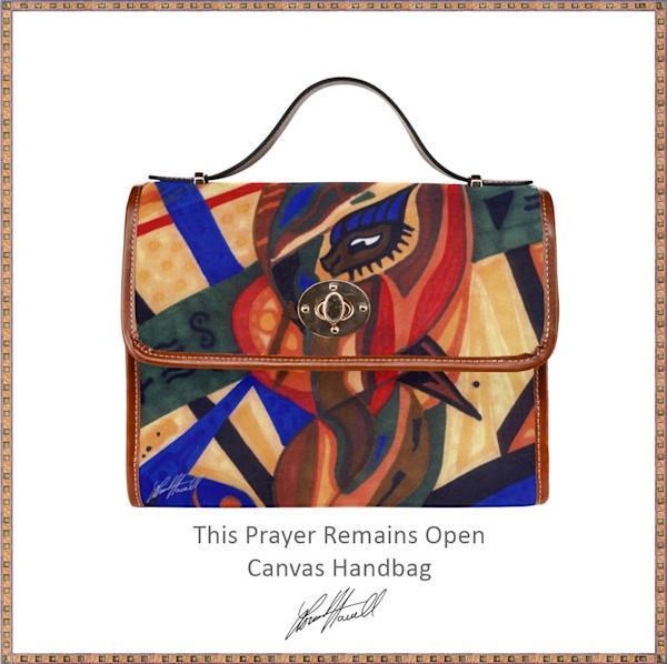 This Prayer Remains Open Canvas Handbag   Loree Harrell Art