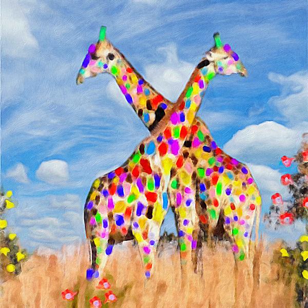 Fancy Giraffes Resized Art | Windhorse