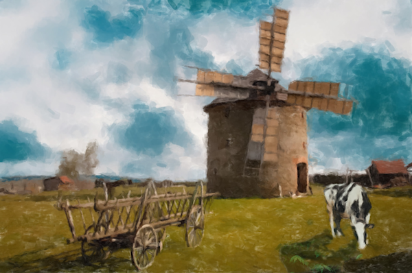 Old Windmill Art | Windhorse