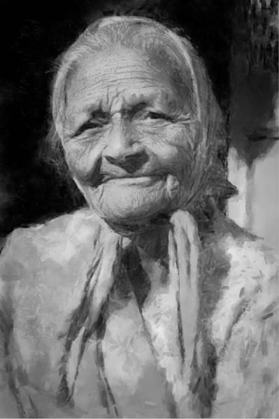 Old Woman  Art   Windhorse
