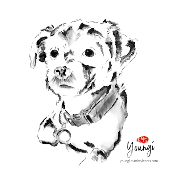Martini: Terrier Mix (Sticker) Art | Youngi-Sumistyle pets