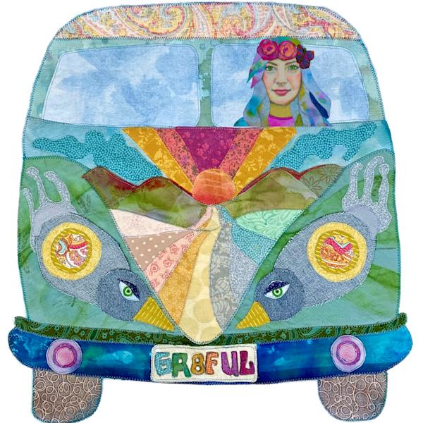 Truckin' With Flower Child Art | Karen Payton Art