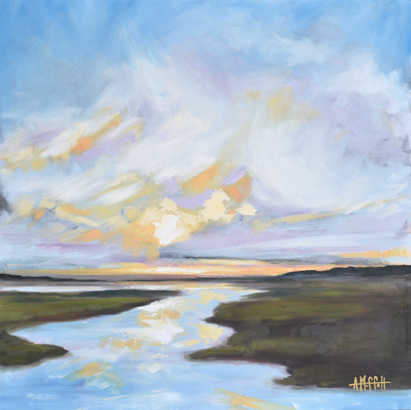 Daybreak in the Lowcountry -  Original Oil Painting - Art by April Moffatt