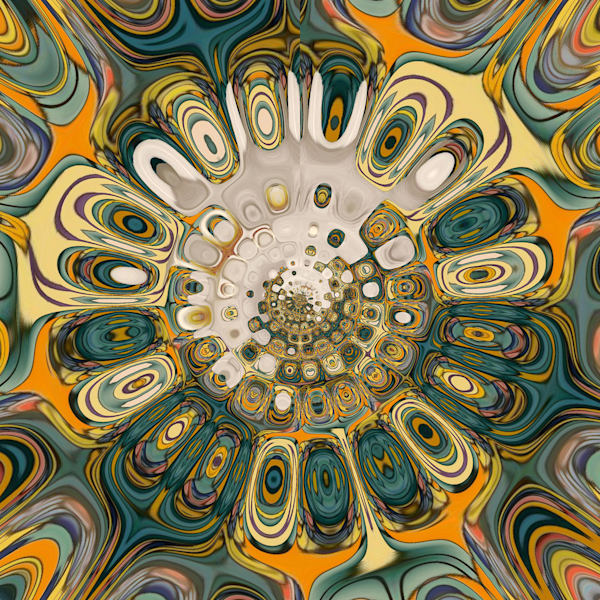 Kaleidoscope-13 is a digital art abstract image created by Y. Hope Osborn.