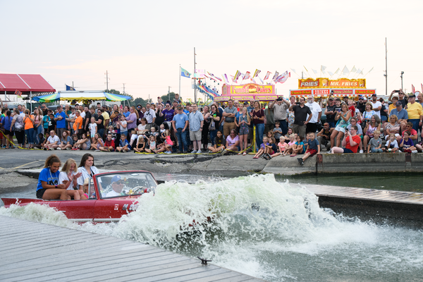 Dsc2501 Amphicar Splash In Photography Art | Hatch Photo Artistry LLC