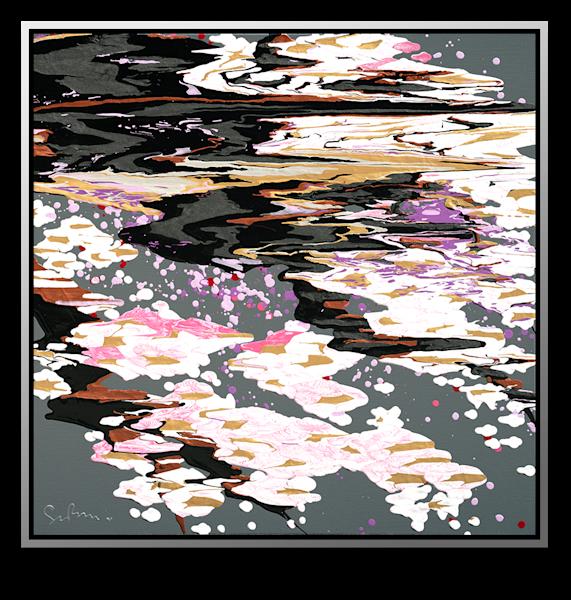 "Simon Bull Available Original Painting - ""Petal Pool"""