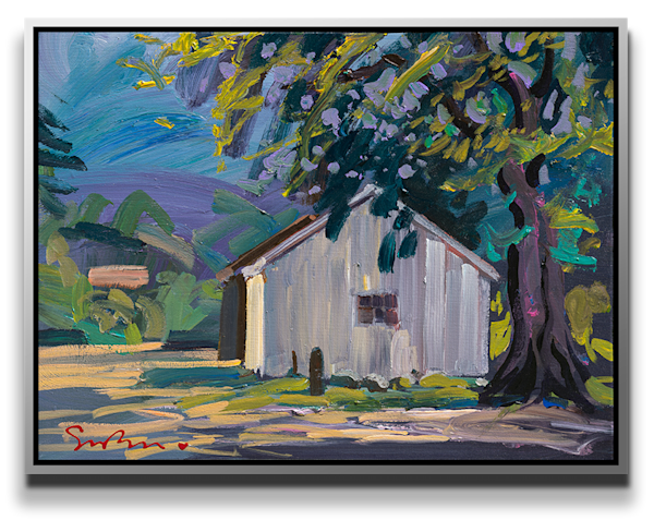 "Simon Bull Available Original Painting - ""Barns at Andrew Molera State Park"""