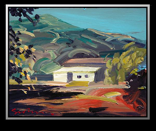 "Simon Bull Available Original Painting - ""Barn At Big Sur"""