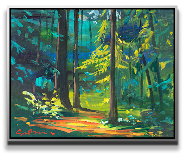"Simon Bull Available Original Painting - ""Redwood Grove"""