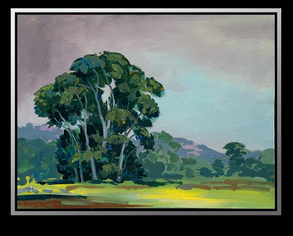 "Simon Bull Available Original Painting - ""Cottonwoods"""