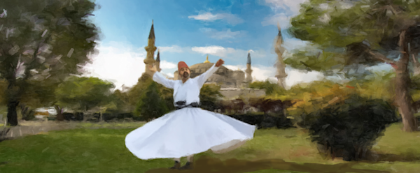 Dervish Whirling In A Field Art | Windhorse