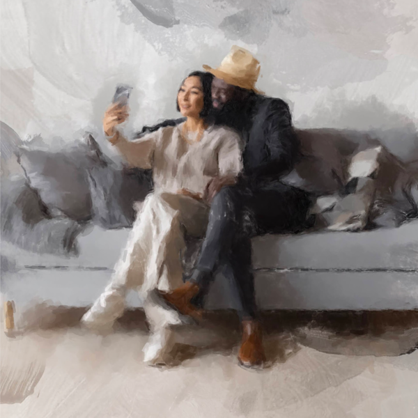 Selfie Of A Couple Art | Windhorse