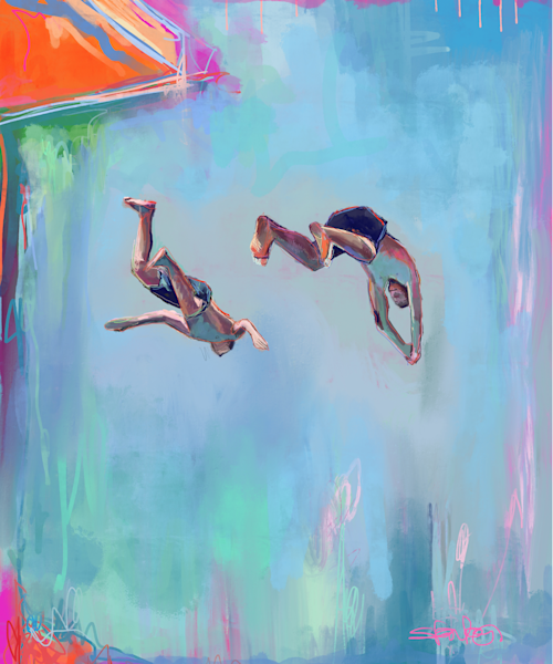 Take the Plunge IV Gallery Print by Steph Fonteyn
