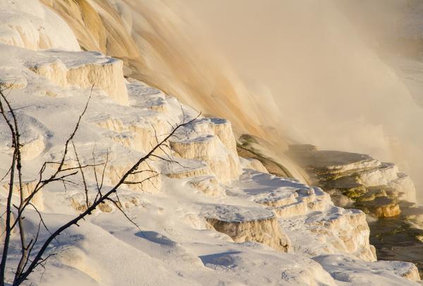 Frozen Hot Springs  Photography Art   Alina Marin-Bliach Photography/alinabstudios LLC