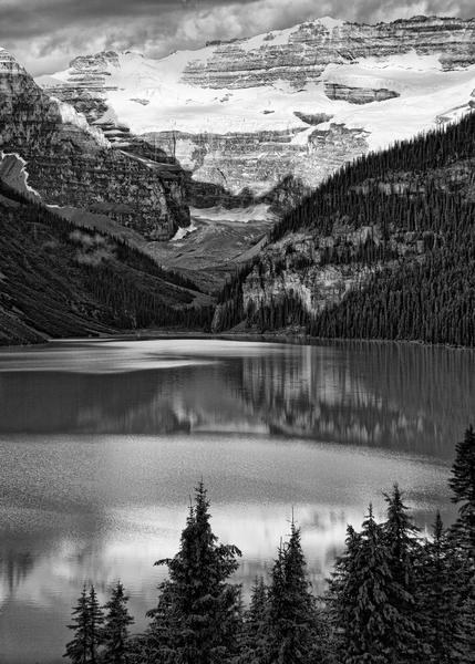 Lake Louise (B&W) Photography Art | Alina Marin-Bliach Photography/alinabstudios LLC