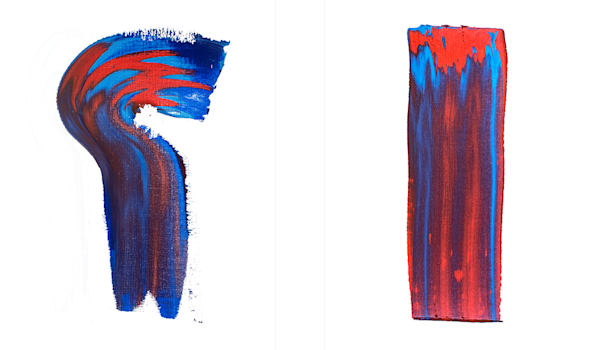 Red & Blue   Diptych Art | RPAC Gallery