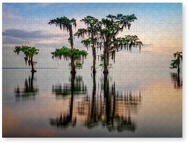 Lake Maurepas Reflection Jigsaw Puzzle | Shop Photography by Rick Berk