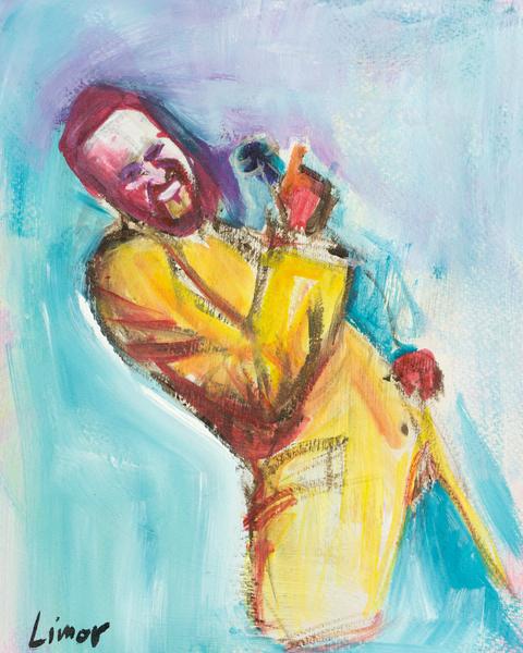 S Inger In Yellow Art | Limor Dekel Fine Art
