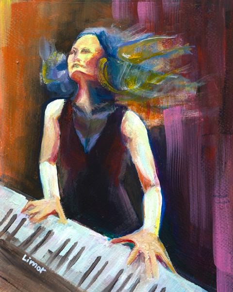 Passionate Pianist Art | Limor Dekel Fine Art