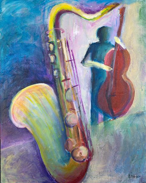 Sax And Bass Art | Limor Dekel Fine Art