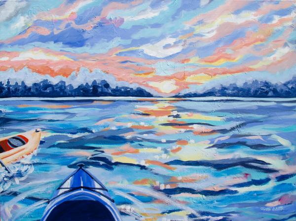 Evening Paddle Copy Art | Kristin Webster Art Studio