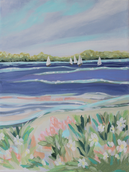 With A Dream Wind In My Sail Art | Kristin Webster Art Studio