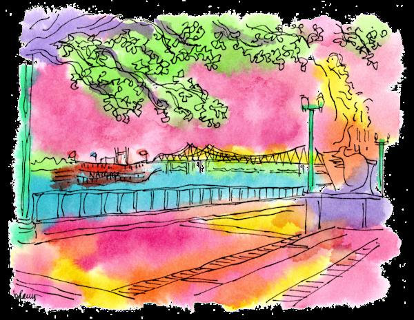 Mississippi River Art   bharris Art, LLC