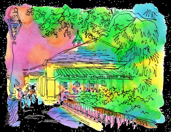 Cafe Du Monde Art   bharris Art, LLC