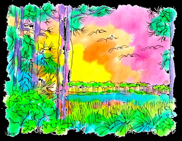 Western Lake Pines Art   bharris Art, LLC