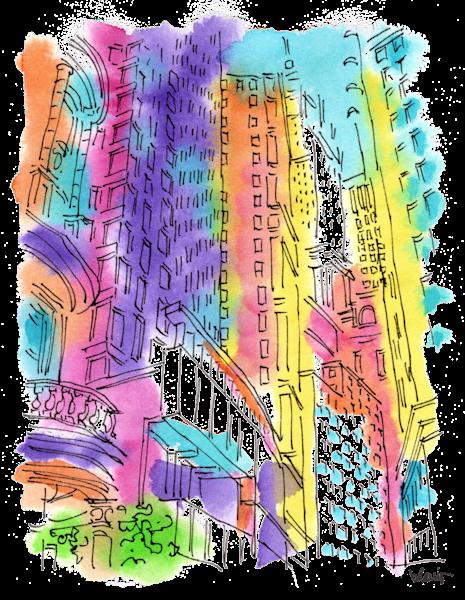 Financial District  Art | bharris Art, LLC